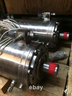 1- Sun-Star Electric/Hitachi 50HP 3-Phase 3000 V Submersible Motor Used Cond