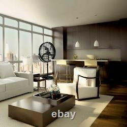 20 in. Adjustable height pedestal industrial drum fan with 360 degree tilt vie