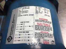2 HP Burks Centrifugal Pump, T320GA5-1-1/4 / T320GA5-1-1/4-4.88, 230/460V, Used