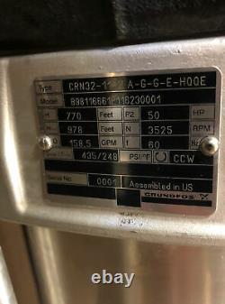 50hp, Pump/motor, Grundfos, Crn32-11-2 A-g-g-e-hqqe, 575v, 3540rpm, Baldor