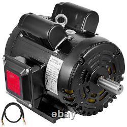 5HP Compressor Duty Industrial Electric Motor, 184T, 1725 RPM, 208/230V, 1PH