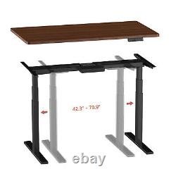 AIMEZO Electric Stand Up Desk Height Adjustable Standing Desk Frame Dual Motor