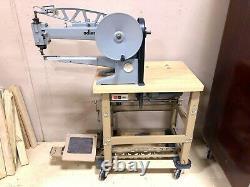 Adler Sewing Machine 30-10 Leather Shoe Repair LONG ARM Industrial Cobbler motor