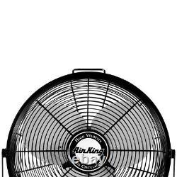 Air King 12 Inch 3 Speed 1/25 HP Motor Industrial Grade Multi-Mount Fan 9312