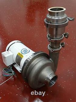 Ampco Centrifugal Pump 3 x 2-1/2 DDC 1750RPM 5.75IMP WithBaldor Motor 2HP 230/460V