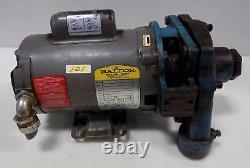 BALDOR 1/3HP 3450RPM ELECTRIC INDUSTRIAL MOTOR CJL120SA With BURKS PUMPS 3G5-1-1/4