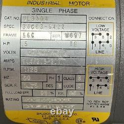 BALDOR Single Phase. 5 HP Industrial Electric Motor VL3504 1725 RPM Made In USA