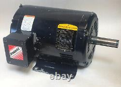 Baldor Reliance Electric Industrial Motor, 5HP, 208-230/460V, 1750rpm 184T 3-Ph