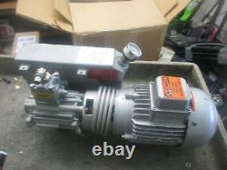 Busch RA 0016 B 5L3 Single Stage Rotary Pump with Katt FN80-4 Motor. Reb
