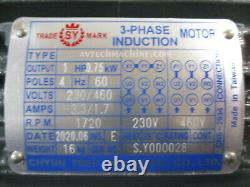 Chyun Tseh Industrial Electric Motor 1HP 3 Phase 230/460V 00143E03101-15-230/460