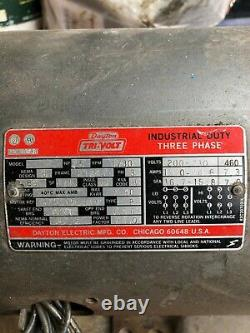 Dayton Tri-Volt Industrial Duty 220v 5HP electric motor Used