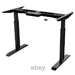Electric Dual Motor Height Adjustable Standing Desk Sit Stand Up Desk With 47 Top