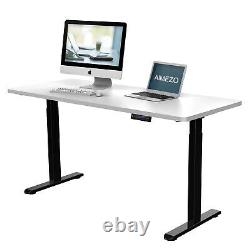 Electric Height Adjustable Standing Desk Frame With 4 Memory & USB Port Controller
