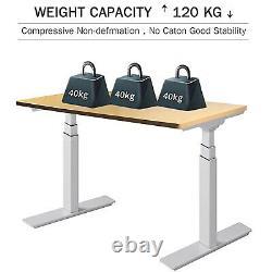 Electric Stand Up Desk Frame Dual Motor Height Adjustable Standing Desk Memory