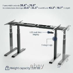 Electric Stand Up Desk Frame with Dual Motor Height Adjustable Standing Table Base