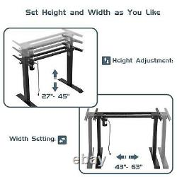Electric Stand Up Desk Frame with Motor Height Adjustable Standing Table Base