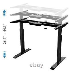 Electric Standing Desk Frame Daul Motor Height Adjustable Stand up Base Black
