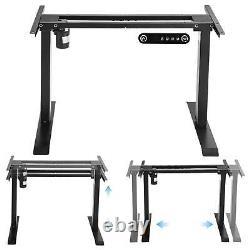 Electric Standing Desk Frame Table Single Motor Height Adjustable Stand Up Black