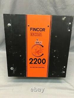 Fincor 2200 S Electric Motor Drive 5HP 1PH 115/230 Volt AC/DC WithOption 1039