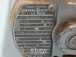 Gast Vacuum Pump 0522-V3-G18DX with GE A-C Motor 1/4HP, 1725RPM, 115V, 5.6A, 60Hz