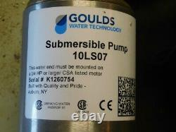 Goulds 4 Submersible Pump & Motor 3/4 hp 10 gpm 1 ph, 10LS07412CL No Box