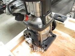 Grundfos CRNE5-3 Centrifugal Pump with VFD In-Line Foundation Mount 460-480VAC