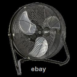 HVF18IS Sealey Industrial High Velocity Floor Fan with Internal Oscillation 18