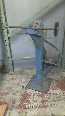 Heavy Duty Industrial Pedestal Buffer Grinder w 3-phase 1 HP horsepower motor