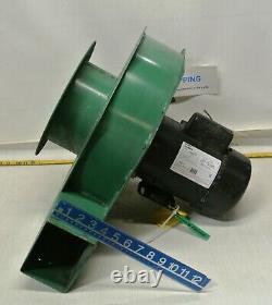Industrial Blower w A. O. Smith 115-208-230v Electric Motor #B891 1.5HP 3450 RPM