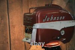 Industrial Machine Age Lamp Johnson Boat Motor Nautical Marine Outboard Seahorse