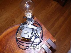 Industrial Steampunk Motor / Salvage Art Lamp
