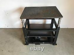 Industrial Syncrogear Electric Motorized Lift Table Station / Stage 35 x 26 Inch