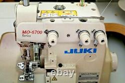 JUKI MO-6704S Industrial 3-Thread Overlock Sewing Machine withTable & Motor
