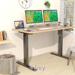 Lubvlook Electric Stand up Desk Frame, Adjustable Single Motor 150cm, Black