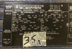 Marathon Industrial Electric Motor BVK 213TTFS6531EU L 230/460v 3ph 7.5hp NOS