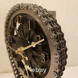 Motorized, rotating gear clock, chevy small block timing set