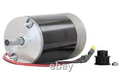 NEW 12V DC Spinner Motor Fisher Poly Caster 1/2 Shaft 10T Cogged Pulley 78300