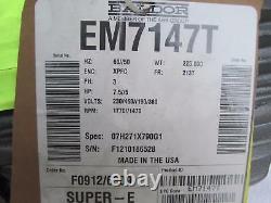 New Baldor EM7147T Industrial Electric Motor 7.5HP 1770RPM 230/460V Ph 3 FR 213T
