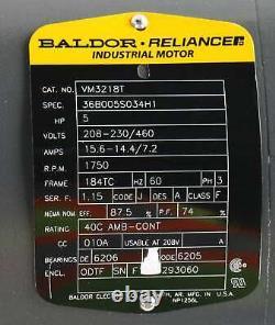 New VM3218T Baldor Industrial Electric Motor 5HP 208-230/460 Volts 60Hz 3PH