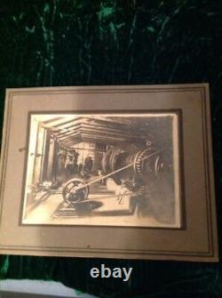 Old Industrial Picture Electric Motor Factory Photo Vintage Industrial