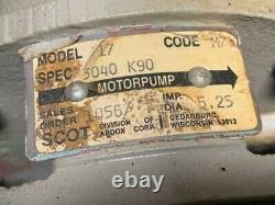Scot Centrifugal Pump 2x2, Mod# 17 with Motor, Imp Dia 5.25, 230/460V, 3Ph, Used