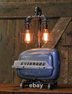 Steampunk Industrial Machine Age Lamp Evinrude Boat Motor Nautical Marine