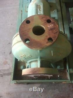 Taco Frame Mounted Circulating Water Pump 3HP Blador Motor Government say's NOS