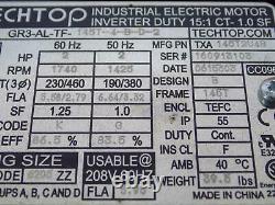 Techtop 2hp 1740rpm Industrial Electric Motor Gr3-al-tf-145t-4-b-d-2 Nib