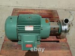 Tri-Clover CLW3285MEGK4EP Sanitary Centrifugal Pump with a 30 HP Reliance Motor
