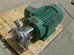 Tri-Clover Industrial Size Sanitary Centrifugal Pump with a 40HP Reliance Motor