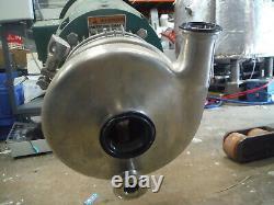 Triclover C216MD2TT-S-KX Tri-flo Pump 7.5 HP Baldor 3 Ph Motor 3450 RPM