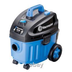 Vacmaster 4 Gallon 5 Peak HP with 2-Stage Industrial Motor Wet/Dry Floor Vacu