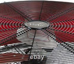 Vie Air 24 Industrial High Velocity Heavy Duty 3-speed Metal Tilting Floor Fan