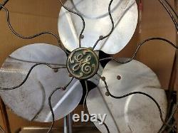 Vintage Industrial box floor Fan Steampunk G. E. Wagner electric motor